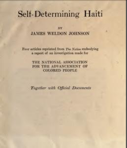 Determining Haiti Pamphlet Cover